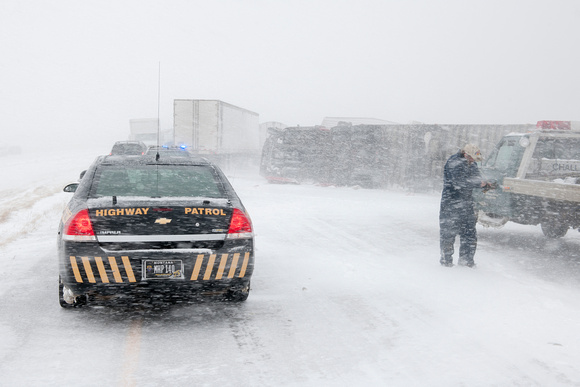 Pileup on Interstate During Blizzard