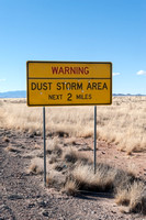 Warning Sign - Dust Storm Area