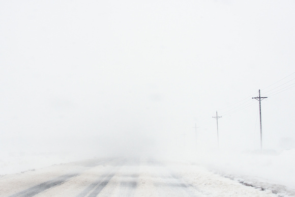 Blizzard Conditions (Driver's Point-of-View)