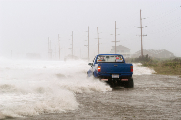 Motorist Trapped in Truck by Storm Surge