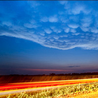 Mammatus Over Passing Car, 2011