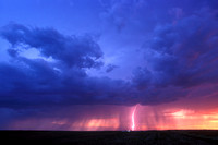 Lightning and Colorful Sunset