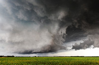 Supercell Thunderstorm Over Field