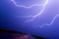 Lightning Over Highway (Driver's Point-of-View)