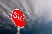 Storm Over Stop Sign