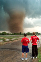 Meteorology Students Studying Tornado