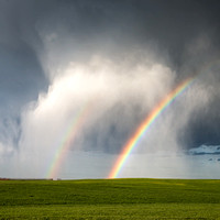 Storm, Hail, and Rainbow, 2014
