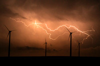 Lightning Over Wind Farm, 2012