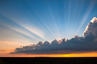 Crepuscular Rays Rising Upward