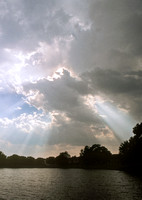 Crepuscular Rays Over Water