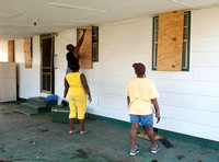 Hurricane Preparations - Boarding Up Windows