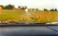 Windshield Damaged by Hail (Interior View)