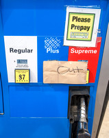 Fuel Pump With Sign Reading: OUT