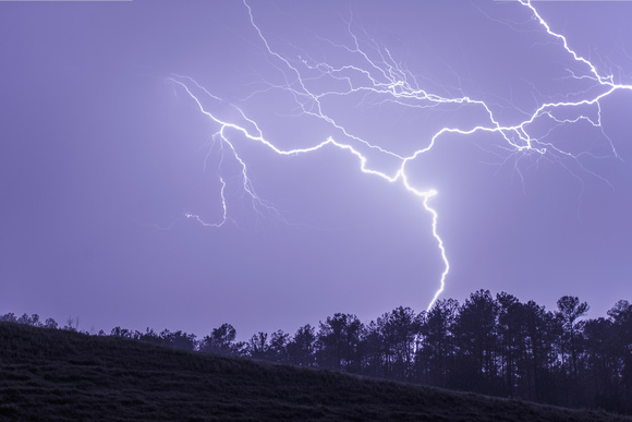 Lightning Wriggling Across Sky