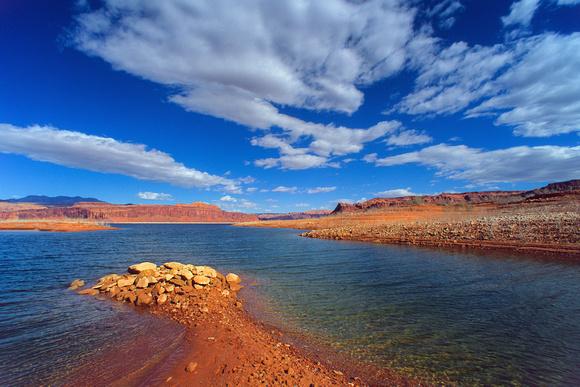 Scenic View Of Lake Powell Utah