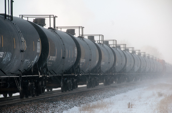 Passing Train - Tank Cars