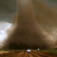 State Trooper Monitors a Tornado From Close-Up