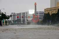 Flash Flooding in Biloxi, Mississippi During Hurricane Issac