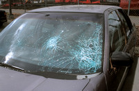Windshield Damaged by Hail (Exterior)