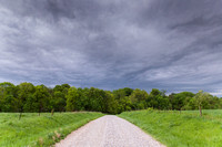 Storm Clouds Over Gravel Road, Illinois, 2010