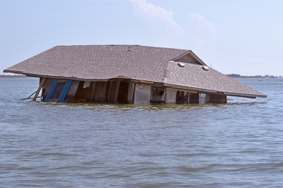 Hurricane Isabel - House Swept to Sea