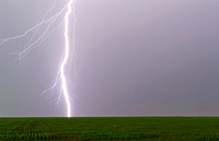 Close-Up of Lightning Striking