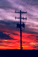 Utility Pole in Front of Spectacular Sunset
