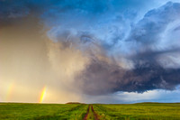 Road, Storm and Rainbow, Wyoming, 2011